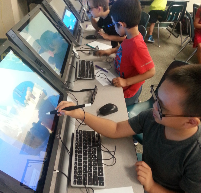 Earth study in Sunray Elementary's STEM lab