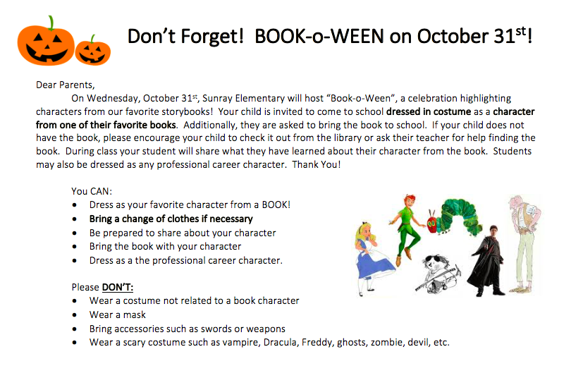 Book-o-ween Information